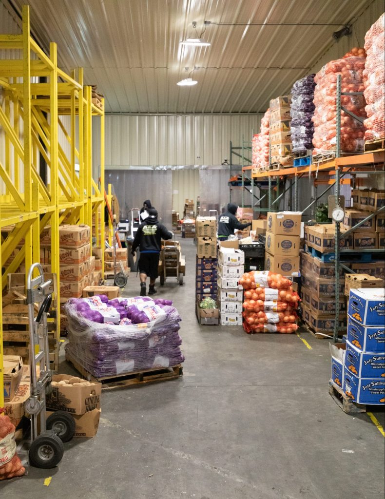 food supply company loading deliveries Charleston